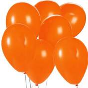The Elixir Deco 100 Piece, 30cm Latex Pastel Assortment Balloon for Birthday Wedding Party, Orange