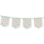 Talking Tables TSDITSY-BUNTING 4m Paper Garland With Fabric Pomp Pomp Detail, Multicolor