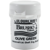 Brusho Crystal Colour 15g-Olive Green by Brusho
