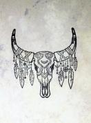 UMR-Design ST-041 Indian Tribal Skull Airbrushstencil Step by Step Size S 5cm x 6cm