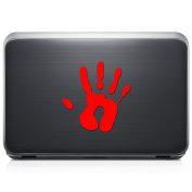 Hand Print Palm REMOVABLE Vinyl Decal Sticker For Laptop Tablet Helmet Windows Wall Decor Car Truck Motorcycle - Size (05 Inch / 13 Cm Tall) - Colour
