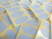 40x20mm Pale Sky Blue Oval Shaped Labels, 75 Self-Adhesive Colour Code Stickers, Sticky Ovals for Craft and Decoration