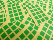 Small 10mm Square Mid Green Colour Code Stickers, 150 Self-Adhesive Sticky Coloured Square Labels