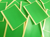 Large 99x65mm Rectangular Mid Green Colour Code Stickers, 20 Self-Adhesive Sticky Coloured Rectangle Labels