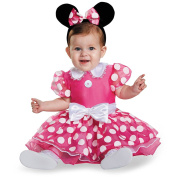 Disguise Baby Girls' Pink Minnie Prestige Infant Costume