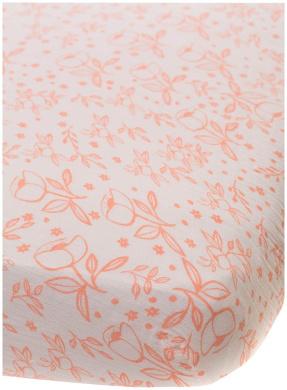 Little Unicorn Cotton Muslin Fitted Sheet - Garden Rose, Pink