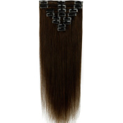 41cm - 60cm 8pcs 18 Clips 100% Clip in Remy Human Hair Extensions Long Silky Straight For Pretty