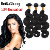 BeiKaShang unprocessed Brazilian virgin hair body wave 3 bundles Human hair extensions weaves 14x16x18