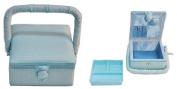 Suzy's Hobby Baskets Small Square Aqua Dot