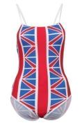 New GB Flag Union Jack Swimming Costume Ladies Swimsuit