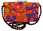 Designer Handcrafted Women Thread Embroidery Clutch Bag Clutch Purse for Girls