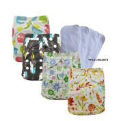 Ohbabyka Adjustable Unisex Baby Cloth Pocket Nappies All in one with Soft Cloth Inner