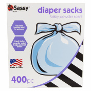 Sassy Baby Disposable Nappy Sacks, 400 Count