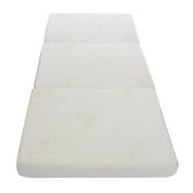 Milliard Tri Folding Mattress, with Ultra Soft Removable Cover and Non-Slip Bottom (190cm x 80cm ) Better Than An Air Mattress