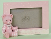 14cm Pink Bear Frame 4 X 6 Cute And Cuddly by Roman