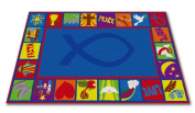 Kid Carpet Bible Square Christian School Rug, 1.2m x 1.8m