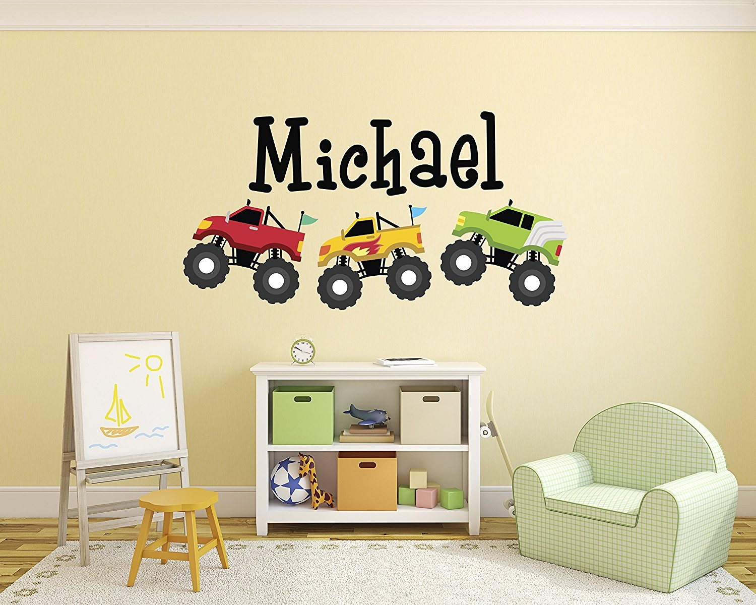 Trucks Wall Decal Nursery Baby Baby: Buy Online from Fishpond.com.au