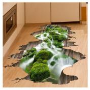 Kemilove 3D Stream Floor Wall Sticker Removable Mural Decals Vinyl Art Living Room Decor