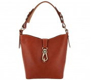 Dooney & Bourke Logo Lock Toscana Leather Shoulder Bag- Lily - Ginger