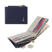 Jnjstella Women's Genuine Leather Half Card Case Coin Wallet