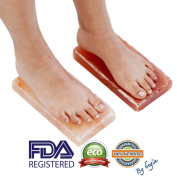 New Himalayan Salt Block Detox for Hand and Foot (Set of Two) (Size 20cm x 10cm x 5.1cm ) with Instructions