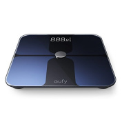 Eufy BodySense Smart Scale with Bluetooth, Large LED Display, Weight/Body Fat/BMI/Fitness Body Composition Analysis, Auto On/Off, Auto Zeroing, Tempered Glass Surface, Black/White, lbs/kg/st Units