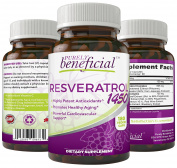 Resveratrol 1450-Potent Antioxidants Promotes Anti-Ageing Cardiovascular Support Maximum Benefits 90 day supply