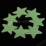 US 100 Glow In The Dark Stars Shape Stickers for Home Ceiling Wall Bedroom Decor