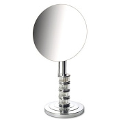 Jerdon Steuben 5x Limited Edition Tabletop Makeup Mirror in Chrome