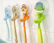 Happy Smiles Toothbrush Holder Animal Design Names Starting With 'I'