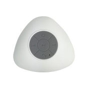 Ginsey Home Solutions 22565 Beu Bluetooth Wireless Suction Shower Speaker, White, Small