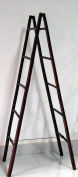 1.5m Folding Double Bamboo Ladder Rack, Mahogany Stain