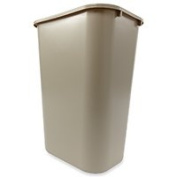 RubbermaidProducts Wastebasket 38.8l Large Beige, Sold as 1 Each