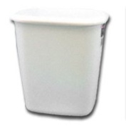 RubbermaidProducts 13.2l White Vanity Wastebasket, Sold as 1 Each