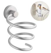 Vivian Aluminium Hair Dryer Rack Wall Mounted Bathroom Flat Spiral Stand Holder Organiser Hanger