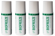 Biofreeze 90ml Pain Relieving Gel Roll On - 4 Pack