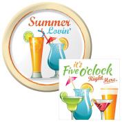 Summer Lovin' Dessert Plates & Napkins Party Kit for 8