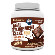 Dr. Berg's Meal Replacement Shake with MCTs & BCAAs, Plant Based Organic Protein, Zero Sugars – Delicious Creamy Chocolate Brownie Flavour, 11 Grammes of Protein, 4 Grammes of MCT, 0.7kg