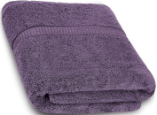 Cotton Bath Towels (Plum, 80cm x 140cm ) Luxury Bath Sheet Perfect for Home, Bathrooms, Pool and Gym Ringspun Cotton by Utopia Towels
