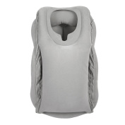 Xueyan Inflatable Daydreamer Face Pillow with Lunch Break Travel Packsack and Luggage Clip - Grey