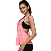 Morecome Women Summer Loose Gym Sport Vest Training Running Tops