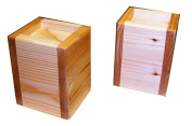 Bed Lifter Bed Riser 13cm Lift Height for 5 x 5 Bed Post - Cedar Exterior and Douglas Fir Solid Core - Very Strong - Set of Two