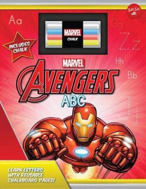 Marvel's Avengers Chalkboard ABC: Learn the Alphabet with Reusable Chalkboard Pages! [Board book]