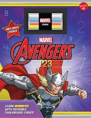 Marvel's Avengers Chalkboard 123: Learn Numbers with Reusable Chalkboard Pages! [Board book]
