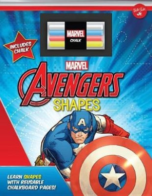 Marvel's Avengers Chalkboard Shapes: Learn Shapes with Reusable Chalkboard Pages! [Board book]
