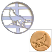 Howling Wolf Full Moon cookie cutter, 1 pc, Ideal for vampire theme party