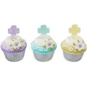 Cross Assorted Pastel Plastic Cupcake Picks Set of 12