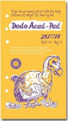 Dodo ACAD-PAD 2017-2018 Filofax-Compatible Personal Organiser Diary Refill Mid Year / Academic Year, Week to View