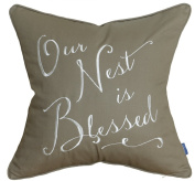 DecorHouzz Our Nest is Blessed Pillowcases Embroidered Pillow/Cushion Cover Decorative Pillow Cover New Wedding Anniversary New Home Birthday Gifts