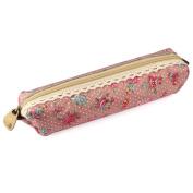 Kemilove Flower Print Lace Pen Pencil Case Makeup Cosmetic Bag Pouch Purse
